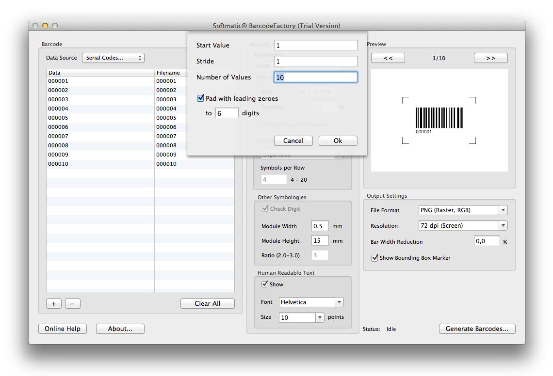 mac barcode software barcode generators excel barcode fonts softmatic. Black Bedroom Furniture Sets. Home Design Ideas