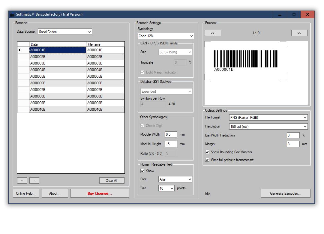 Barcode Code 128 A, B, C auf Mac und PC erstellen - Musterbarcodes ...