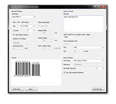 Screenshot Barcode Software PC