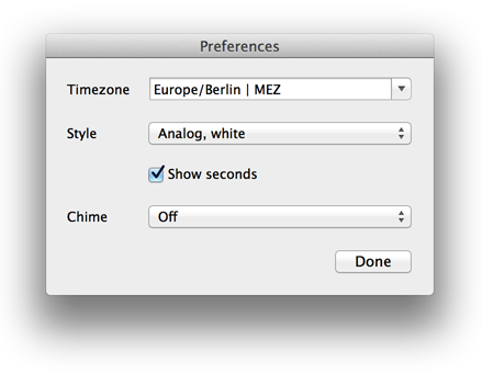 Mac Dock Clock Settings Chime TimeZone
