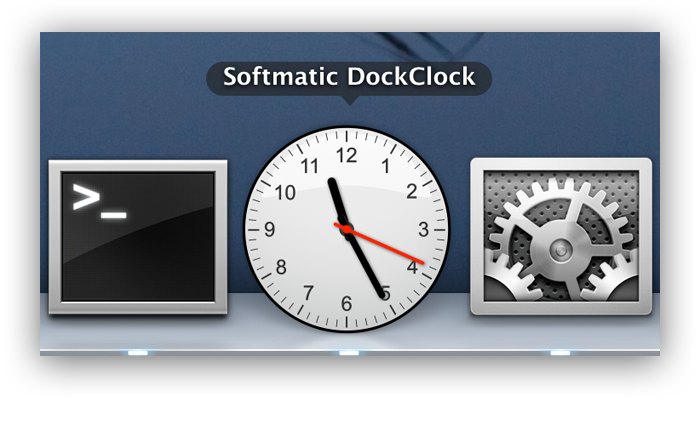 Mac Dock Clock